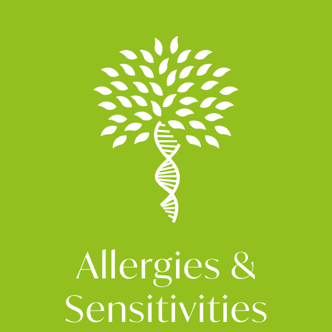 Allergies and sensitivities health test icon
